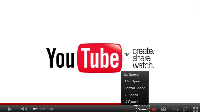 YouTube Playback Speed